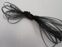 Black Sheer organza ribbon, 2, 10 or 25 metre roll, Double sided 3mm 9mm 15mm 25mm 40mm
